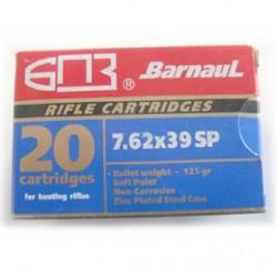 MUNICION BARNAUL 7,62X39 SP 125GR 20UD