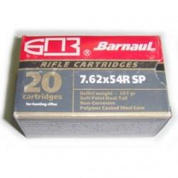 MUNICION BARNAUL 7,62X54R SP BT 203GR 20U