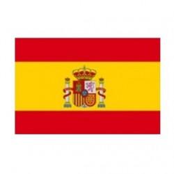 BANDERA ESPAÑA CON CORONA 45X30CM