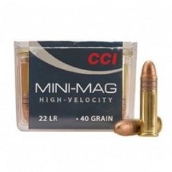 MUNICION CCI MINI MAG. CAL.22 LR RN 40GR 100UD
