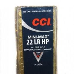 MUNICION CCI MINI MAG. CAL.22 LR HP 36GR 100UD