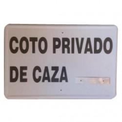 TABLILLA GALVANIZADA COTO PRIVADO DE CAZA