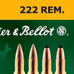 MUNICION S&B SP 222 REM 50GR 20UD