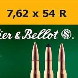 MUNICION S&B SP 7,62X54R 180GR 20UD