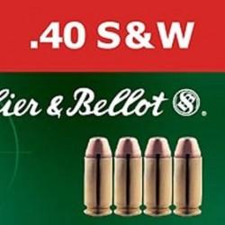 MUNICION S&B FMJ 40 S&W 180GR 50UD