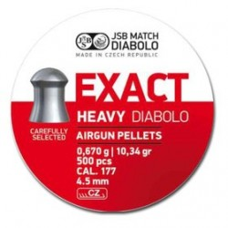 CAJA BALINES JSB EXACT HEAVY 4,52MM 0,670G 500 UD