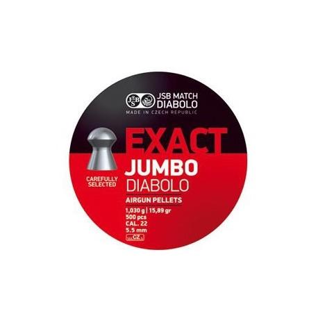 CAJA BALINES JSB JUMBO EXACT 5,52MM 1,030G 500 UD