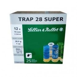 CAJA 25 CART. S&B TRAP SUPER CAL.12 28GR P7,5