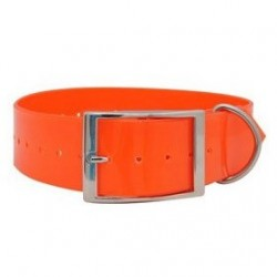 COLLAR POLYTEC 38MM NARANJA FOSFORESCENTE