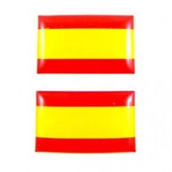 2 PEGATINAS RELIEVE BANDERA ESPAÑA 3X1,8 CM