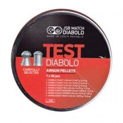 CAJA BALINES JSB EXACT TEST CARABINA 7X50 UD