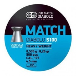 CAJA BALINES JSB MATCH S100 4,50MM 0,535G 500 UD