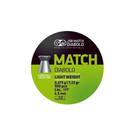 CAJA BALINES JSB MATCH 4,49MM 0,475G 500 UD