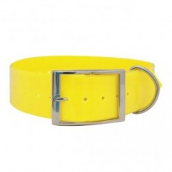 COLLAR POLYTEC 25MM AMARILLO FOSFORESCENTE